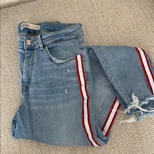 Zara side striped skinny jean